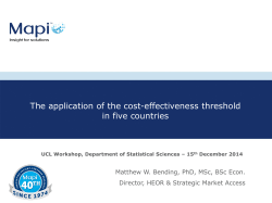 The application of the cost-effectiveness threshold in