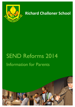 SEND Reforms Information for Parents