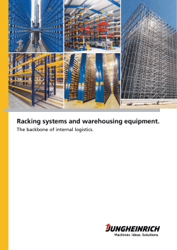 Racking systems and warehousing equipment.