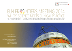 ELN FR NTIERS MEETING 2014