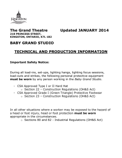 The Grand Theatre Updated JANUARY 2014 BABY GRAND