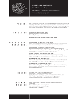 download resume - Hawthorne Design