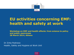 EU activities concerning EMF: health and safety at work