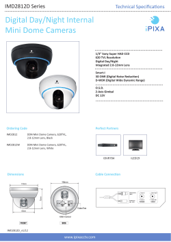 Digital Day/Night Internal Mini Dome Cameras