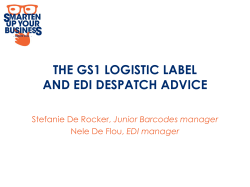 THE GS1 LOGISTIC LABEL AND EDI DESPATCH ADVICE