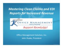 Mastering Clean Claims and EDI Reports for Increased Revenue