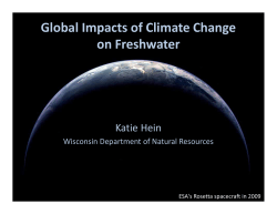 Presentation: Global Impacts of Climate Change on Freshwater