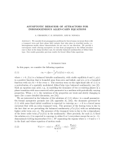 Asymptotic behavior of attractors for inhomogeneous Allen-Cahn