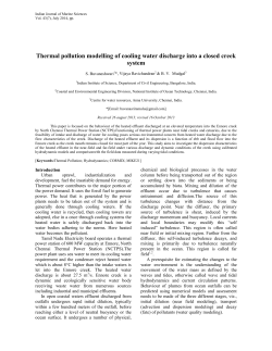 Thermal pollution modelling of cooling water discharge into