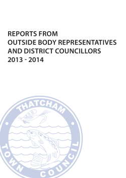 Reports from Town Councillors on Outside Bodies and Disctrict