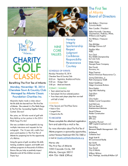 CLASSIC CHARITY - The First Tee of Atlanta