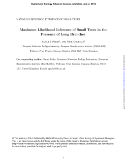 Maximum Likelihood Inference of Small Trees in the Presence of
