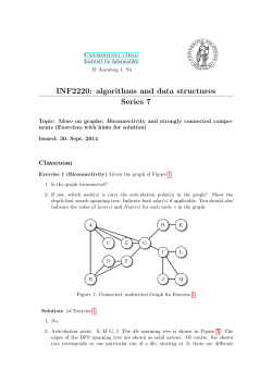 INF2220: algorithms and data structures Series 7