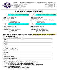 CME Evaluator REFRESHER Courses in December