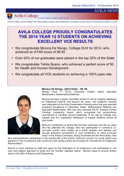 VCE Results Newsletter, 2014