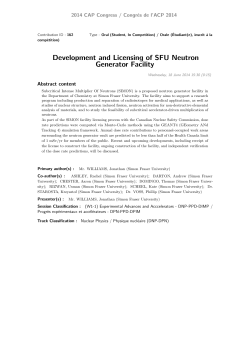 Development and Licensing of SFU Neutron Generator Facility