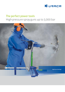 The perfect power tools High-pressure spray guns up to