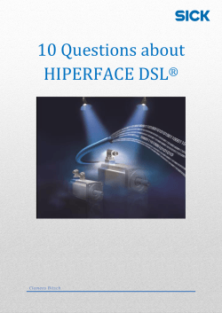10 Questions about HIPERFACE DSL®