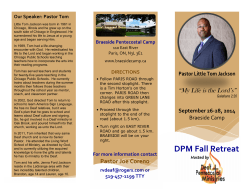 DPM fall retreat 2014--2