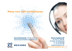 Many-core DSP architectures