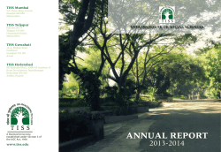Annual Report 2013 - 2014 - Tata Institute of Social Sciences