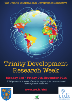 The full programme of events for Development Research Week