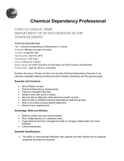 Chemical Dependency Professional