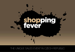1 the unique sales event in czech republic