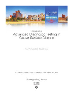 Advanced Diagnostic Testing in Ocular Surface Disease