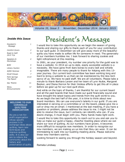 current issue - Camarillo Quilters Association