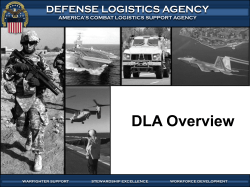 DLA AVIATION Overview - The Crater Procurement Assistance Center