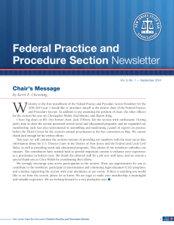 Federal Practice and Procedure Section Newsletter