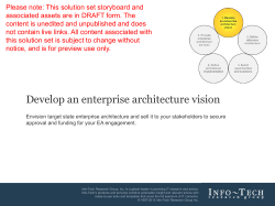 Develop an enterprise architecture vision - DIY guide