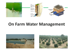 On Farm Water Management
