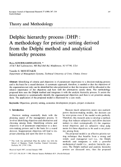 Delphic hierarchy process (DHP) : A methodology