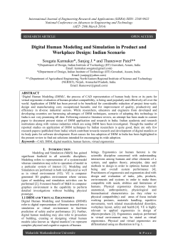 Digital Human Modeling and Simulation in Product and