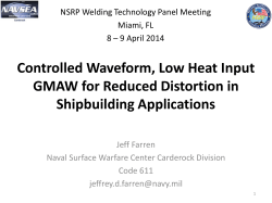 Controlled Waveform, Low Heat Input GMAW for Reduced