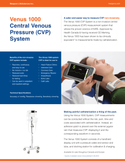 Venus 1000 Central Venous Pressure (CVP) System