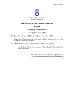 DFP/S4/14/4/A DEVOLUTION (FURTHER POWERS) COMMITTEE