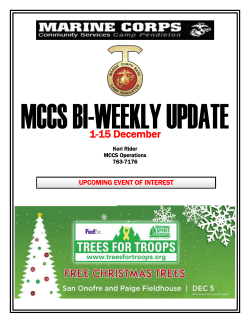 1-15 December - MCCS Camp Pendleton