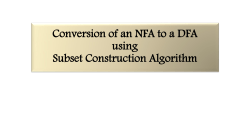 Conversion of an NFA to a DFA using Subset Construction Algorithm
