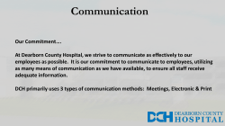 Communication - Dearborn County Hospital