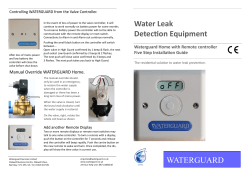 Waterguard Home 5 Step Installation Guide
