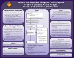 (2014). Parent-child interaction therapy for child disruptive behaviour