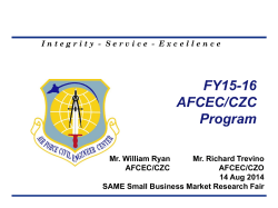 FY15-16 AFCEC/CZC Program