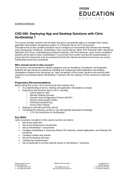 CXD-300: Deploying App and Desktop Solutions with Citrix