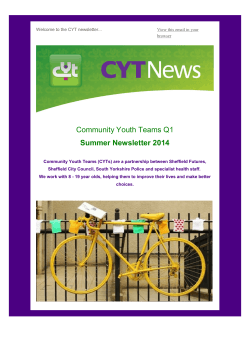 CYT Newsletter Q1 Summer Edition 2014