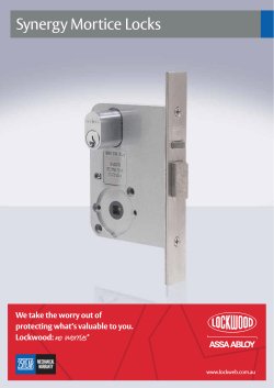 Lockwood Synergy Mortice Locks Catalogue
