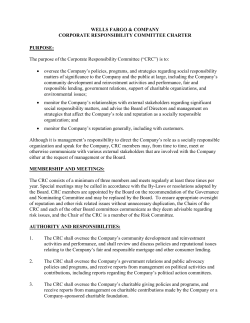 Corporate Responsibility Committee Charter