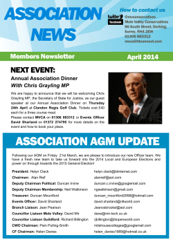 April 2014 Newsletter - Mole Valley | Conservatives
